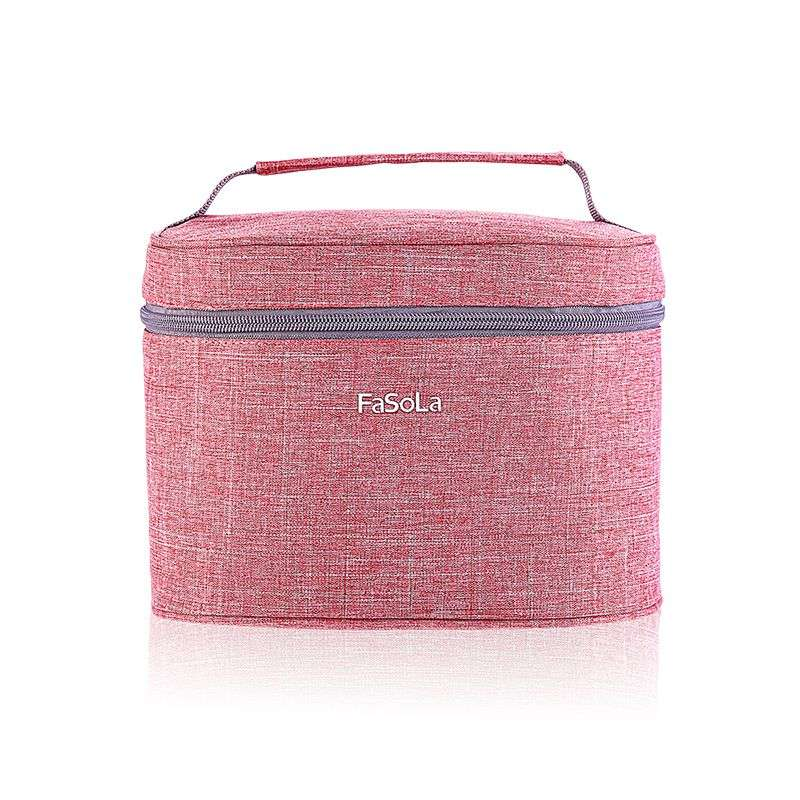 Water and oil proof Oxford cloth portable bag round lunch box womens work with food insulation bag cute Bento bag