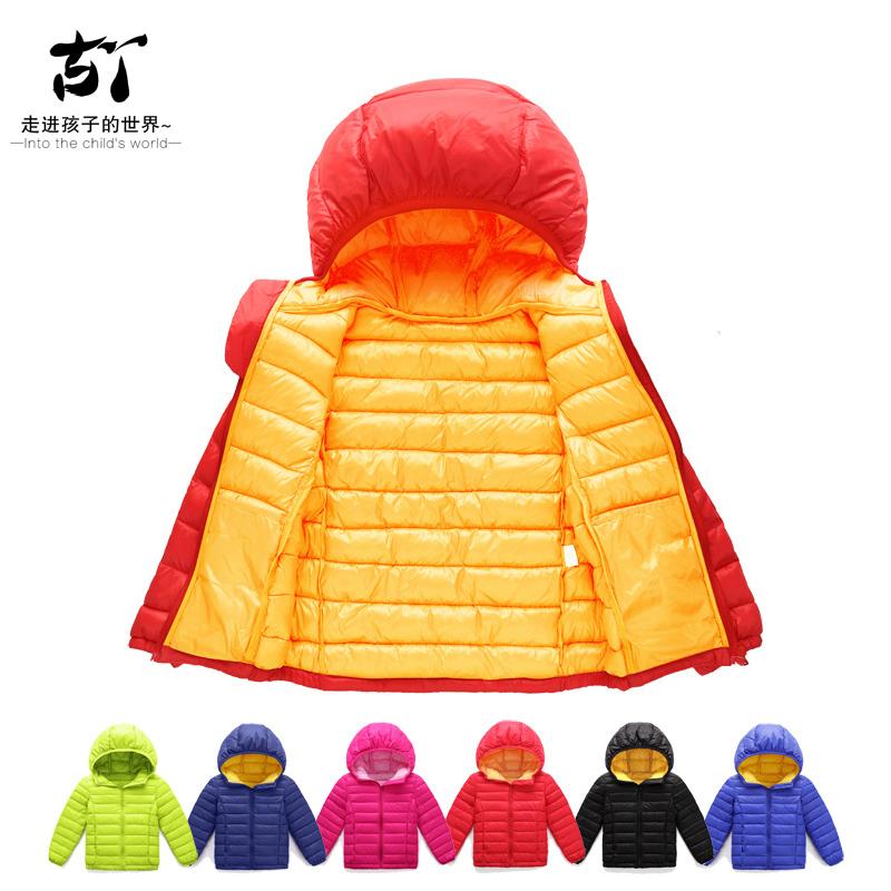 童装外套2019秋冬季新款男女生轻薄款棉外套拼色保暖上衣韩版休闲