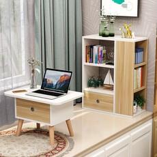 飘窗柜书桌书柜一体榻榻米组合日式小矮书桌北欧卧室阳台置物架