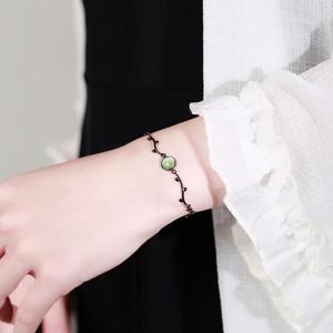 月光森林手链女纯银闺蜜小众设计月夜森林爱丽丝梦游仙境女生礼物