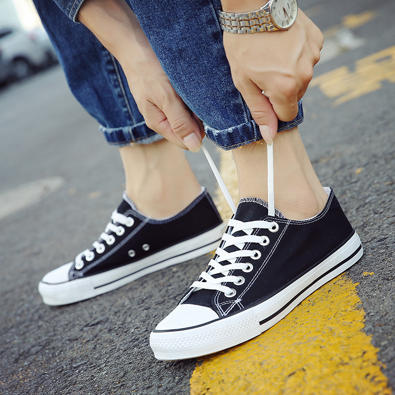 Japanese blue canvas shoes thin sole low top casual board shoes mens earth walking shoes Gray Summer mens body casual shoes
