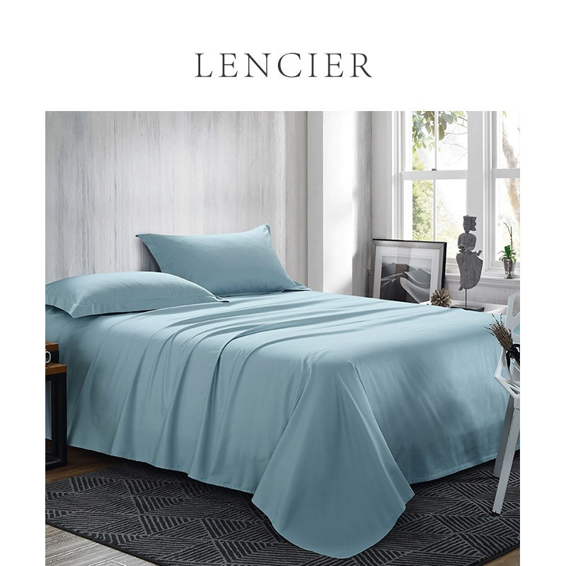 。 Lencier is very comfortable to sleep. Nordic style cotton bed sheet single sheet 1.5m 1.8m