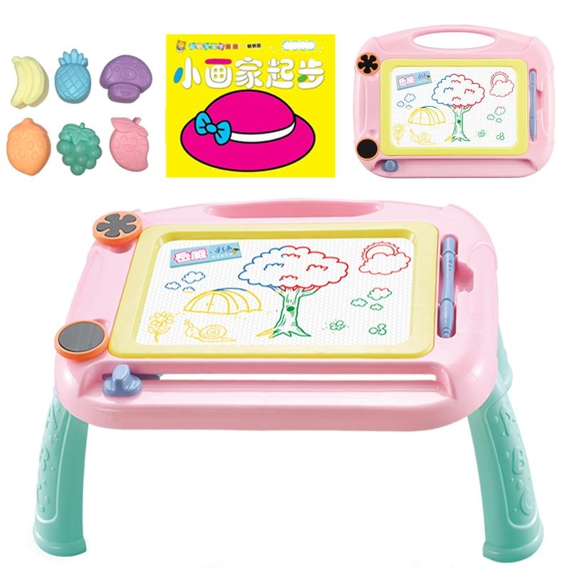 支架式画板写字板男女孩幼儿童涂鸦板画画磁性宝宝玩具家用画画板,可领取3元天猫优惠券