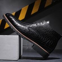 男式皮靴马丁靴男鞋 Male pointed leather casual shoes