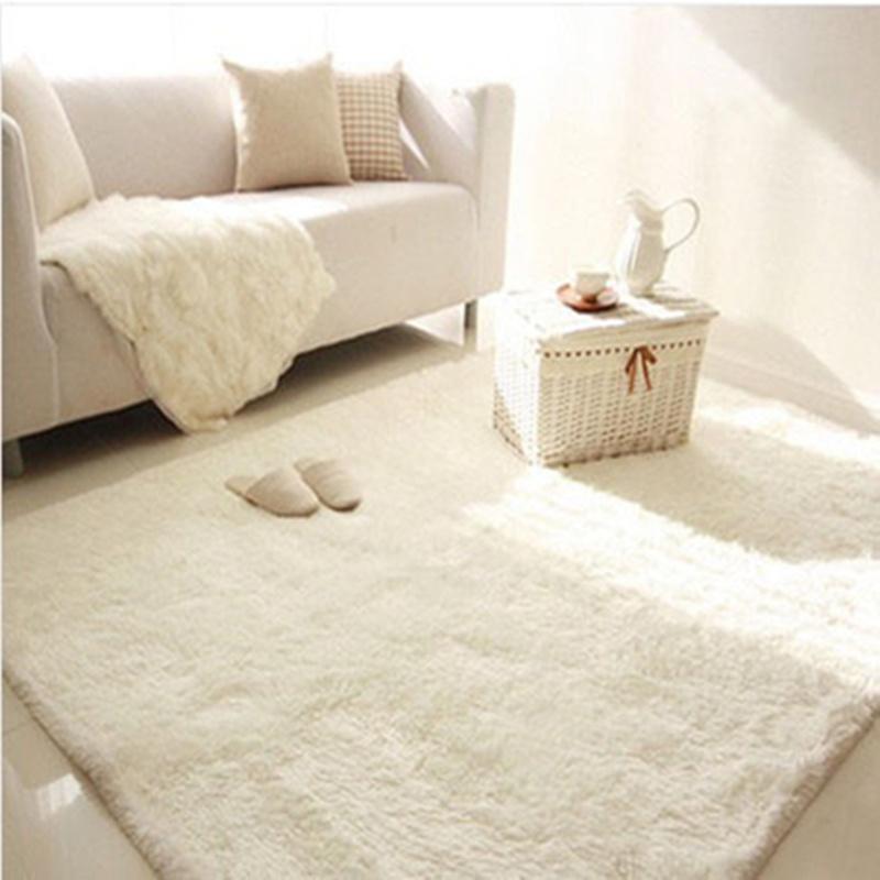 北欧家用白色客厅茶几主播床边毯价格多少好不好用