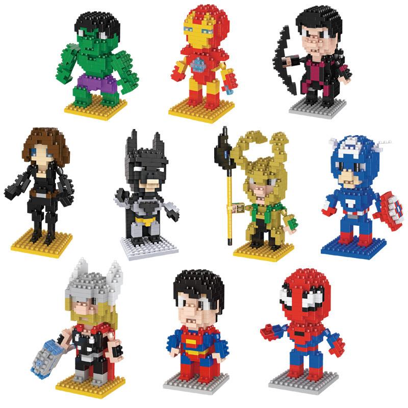 。微钻石积木拼装小颗粒迷你益智英雄联盟蜘蛛超人毒液模型玩具