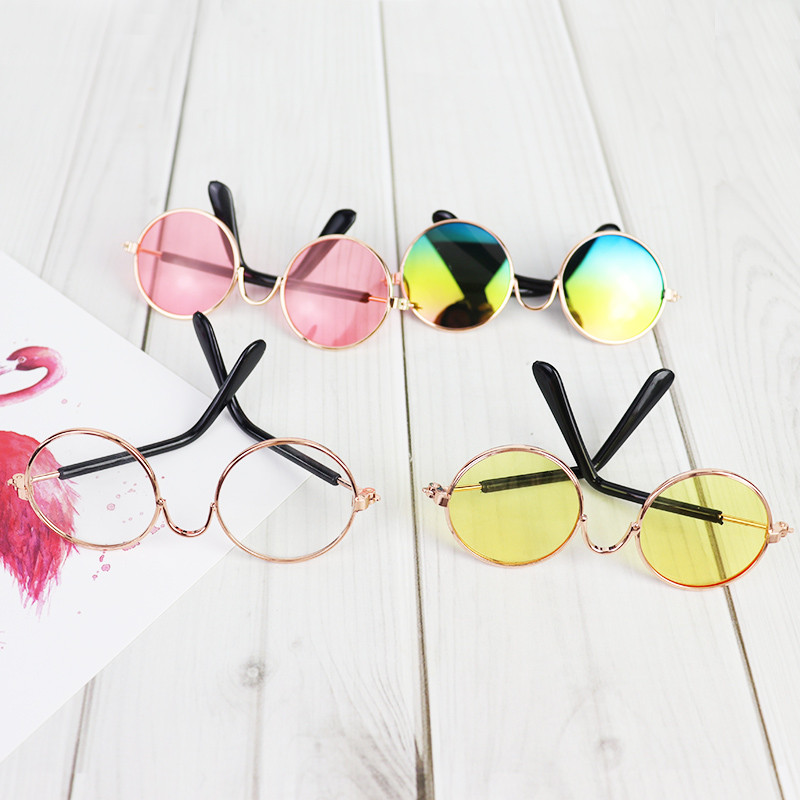 Lamb clothing accessories glasses cotton baby Flash Camera SLR doll photography props doll accessories pigtail