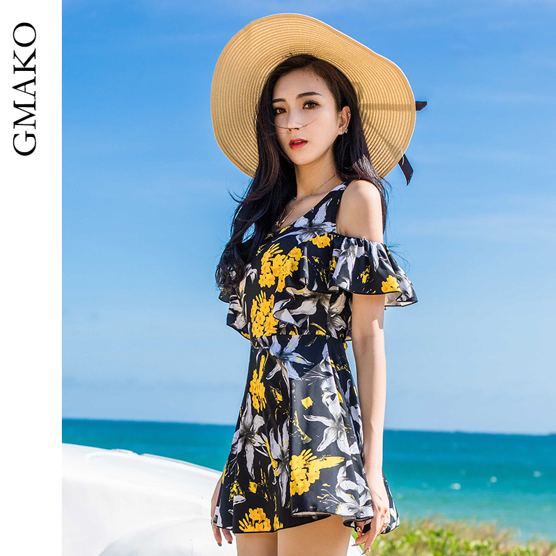 Swimsuit womens new one-piece dress in 2020