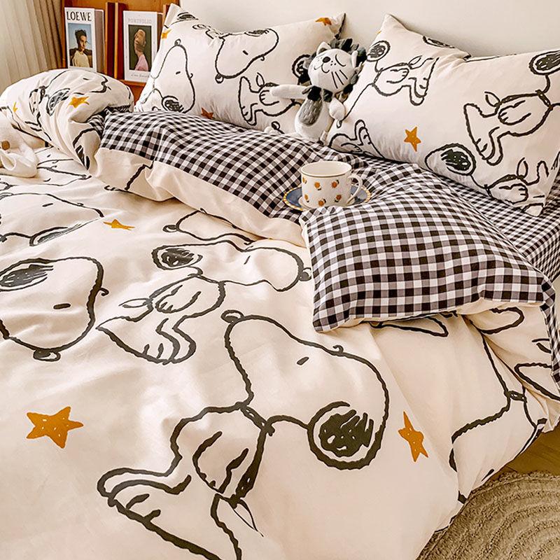 四件套被单床单被套罩被子水洗棉宿舍单人学生三件套床上用品磨毛