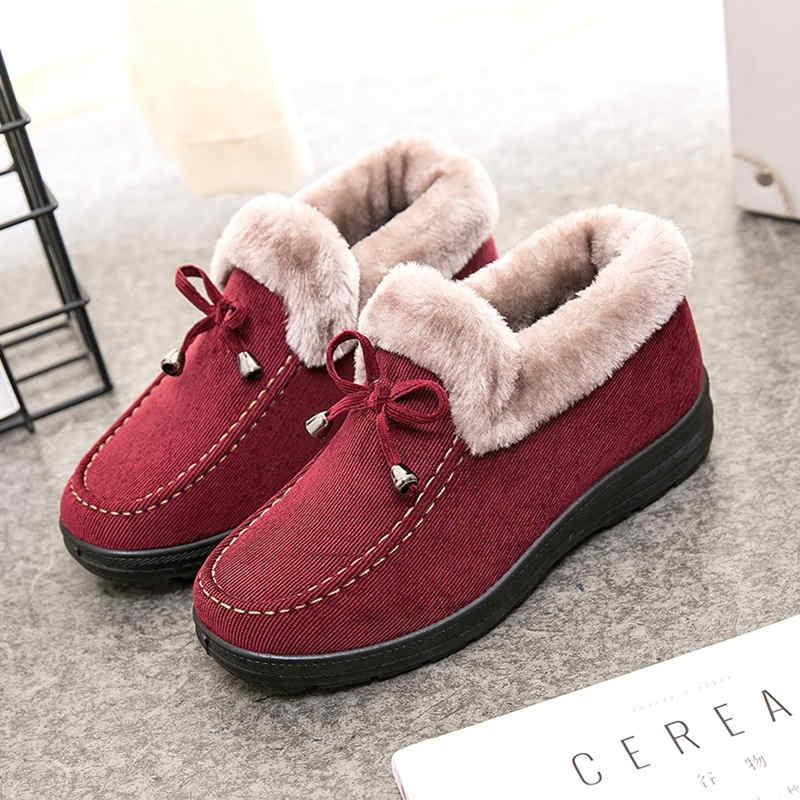 2020冬季加绒棉鞋女韩版百搭马丁靴女豆豆鞋保暖女棉鞋平底短靴子