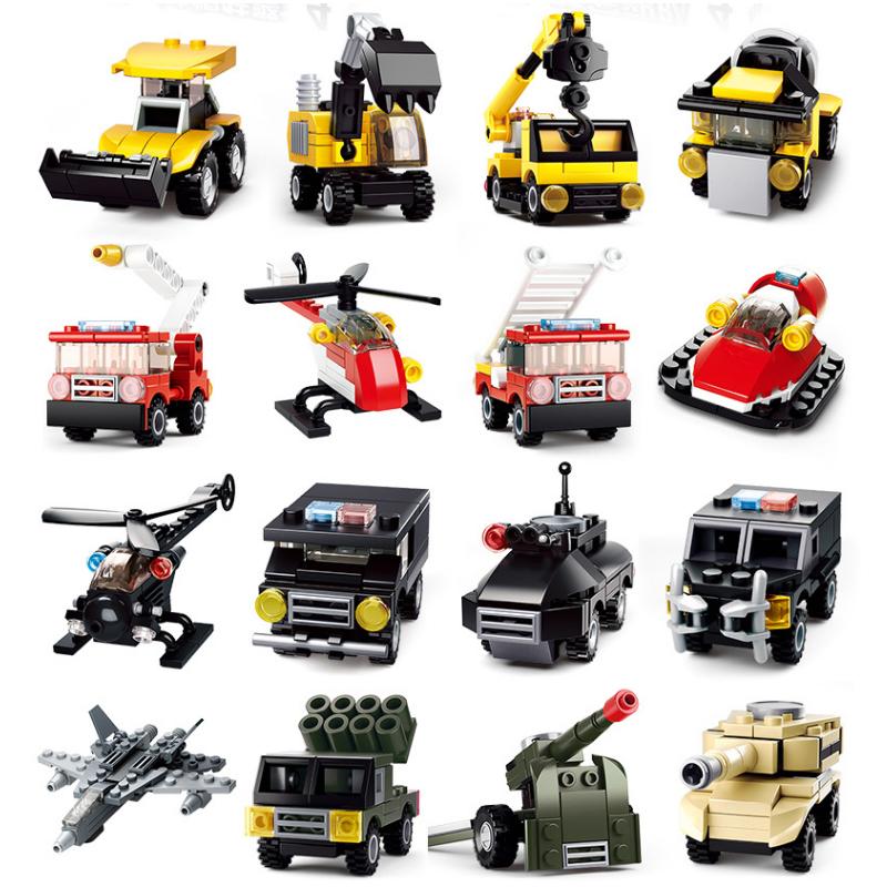 兼容樂高积木小盒装拼装玩具益智6简单小型模型迷你4岁以上男童车