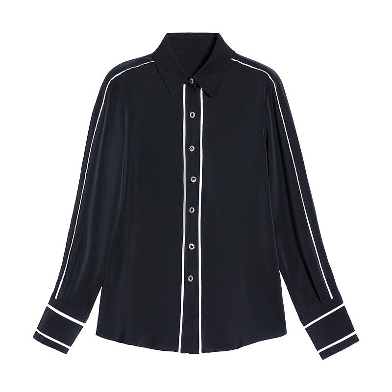 白色衬衫女长袖雪纺衫设计感小众2021年新款春装高端职业女士衬衣