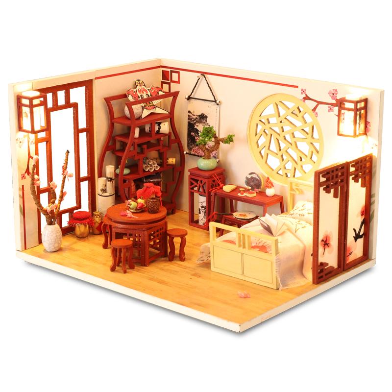 那家小屋diy小屋手工制作小房子模型拼装别墅生日礼物古代建筑女