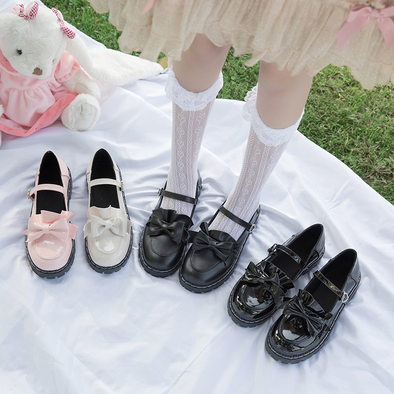 Single shoe leather shoes day series Lolita 2020 summer new lovely Lolita female small shoes female college soft girl
