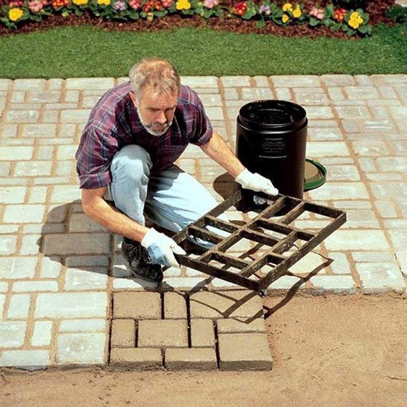 材料彩色建材施工农村基础地砖模型艺术装修造景仿石模具别墅水泥