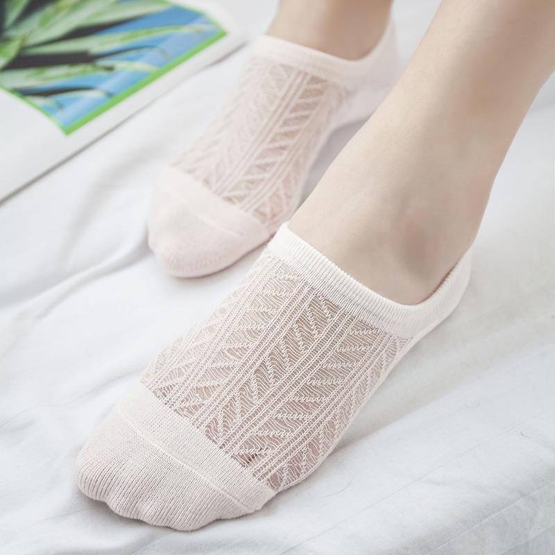 网眼薄款船袜女夏季纯棉隐形浅口可爱韩国防臭硅胶空调袜子女短袜