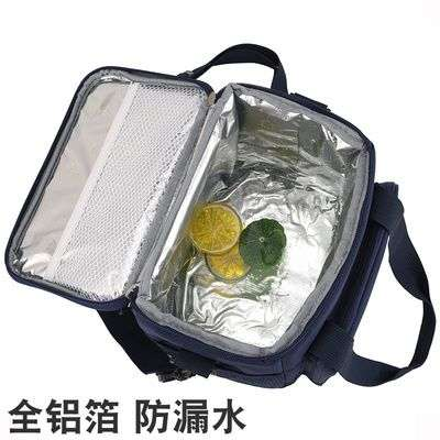 . Korean thickened round lunch box bag large lunch bag portable heat preservation bucket bag waterproof cold storage ice bag