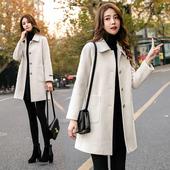 秋冬韩版 学生加厚小个子女呢子大衣中长款 2019新款 毛呢外套女短款