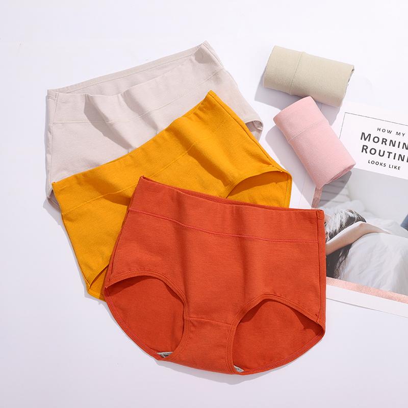 摩朵曼无痕女士内裤纯棉抗菌中腰透气收复提臀100%棉档女三角裤头