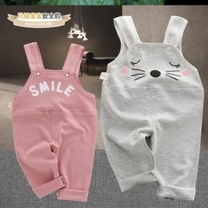 宝宝背带裤婴幼儿夏天春秋男女童裤0-3岁半一周岁2岁多小孩可开裆