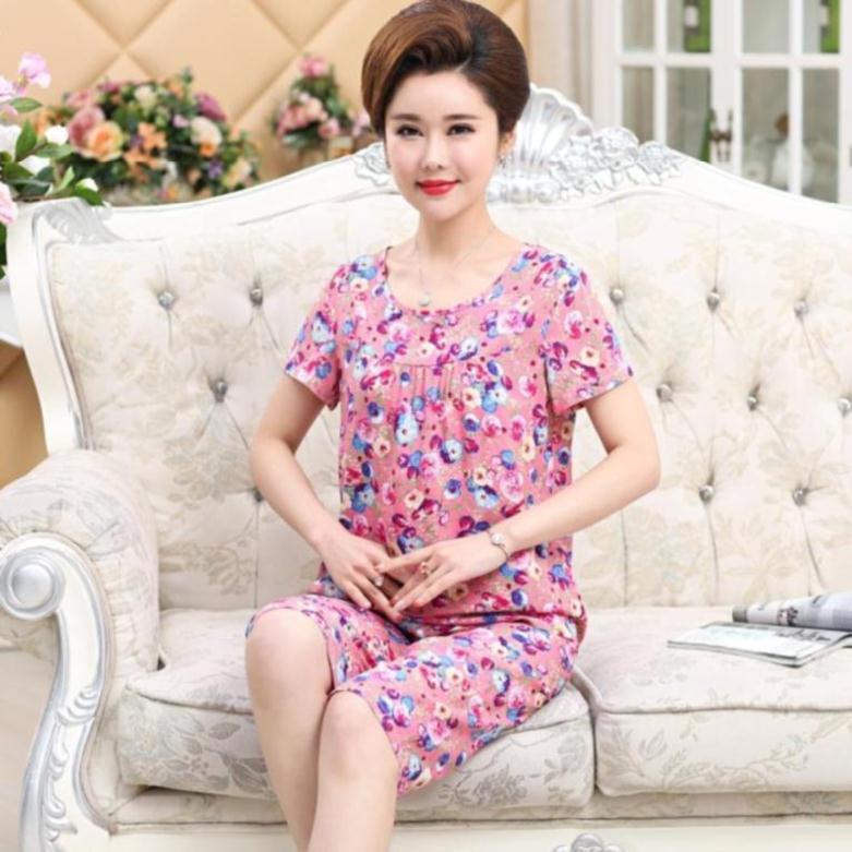 热销0件不包邮。出门清新棉绸睡衣女套装夏季加绒丝绸大码2019春天婆婆孕妇绸缎