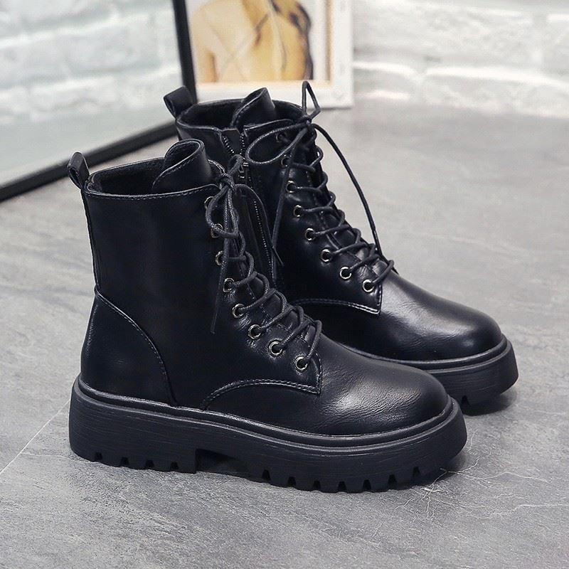 儿童女童2020年新款冬季加绒马丁靴
