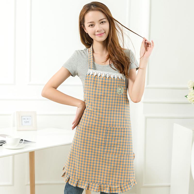 日本半身围裙家用成人厨房花边半截围裙女包邮短款围裙韩版时尚漂