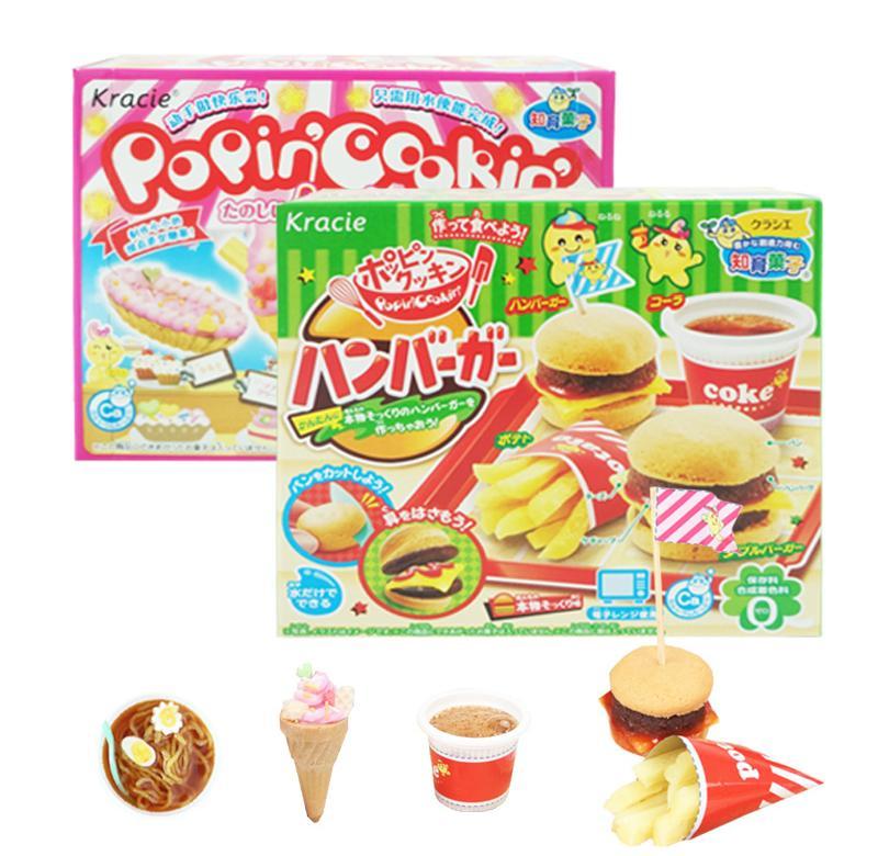 日本食玩可食小伶玩具 汉堡包日木食丸完小林女孩曰本diy知育菓