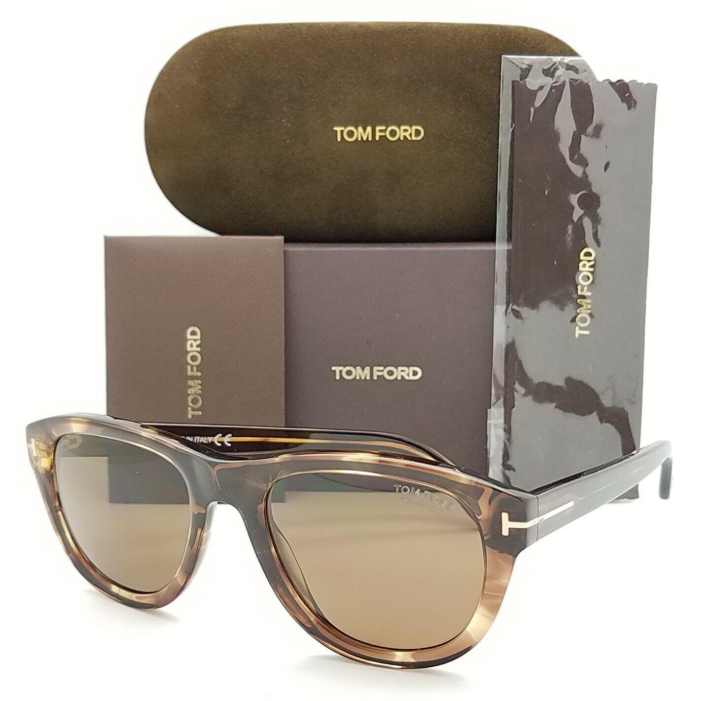 Tom Ford汤姆福特偏光玳瑁色棕色太阳眼镜FT0520S 50H 53