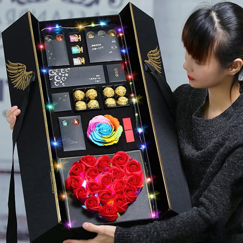 七夕情人节送女友朋友生日礼物女走心实用diy创意老婆浪漫7夕定制(非品牌)
