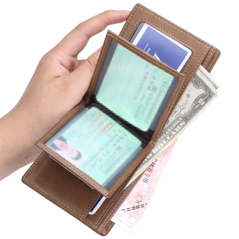 Wallet mens short drivers license multi-functional soft leather clip male business youth fashion multi Card Wallet student trend