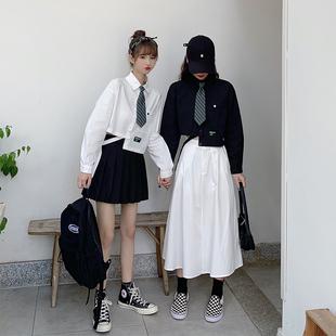 閨蜜裙森系工裝裙套裝女秋季日系長裙子學生可愛穿搭温柔風格寬鬆