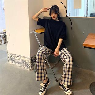 酷女孩夏季穿搭套裝女帥氣慵懶風bf個性酷風格女裝潮原宿港風復古