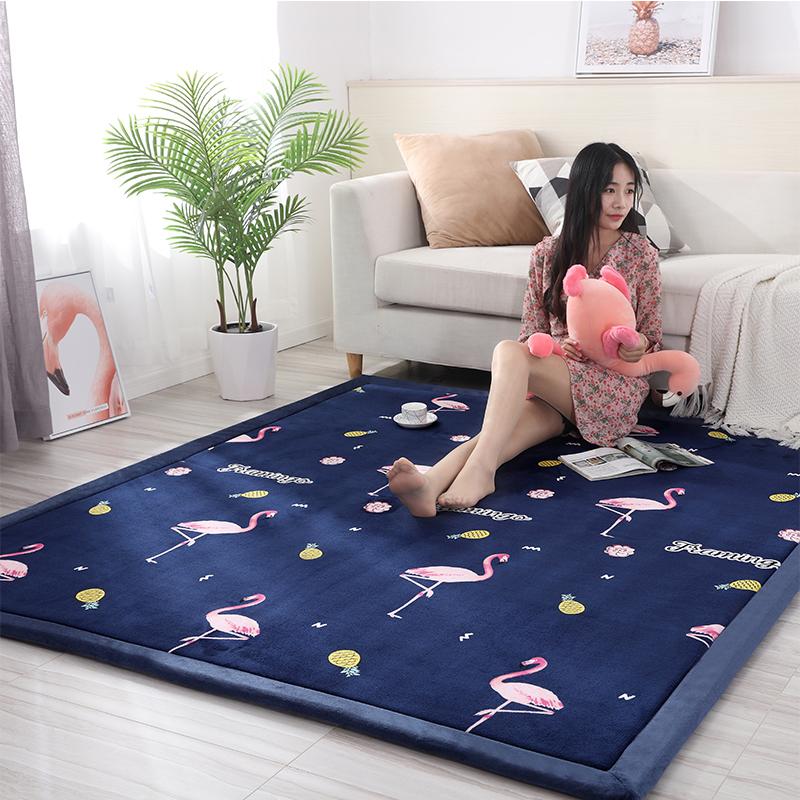 定制榻榻米地垫炕垫可爱网红卧室床边防摔地毯客厅沙发儿童爬行垫,可领取5元天猫优惠券