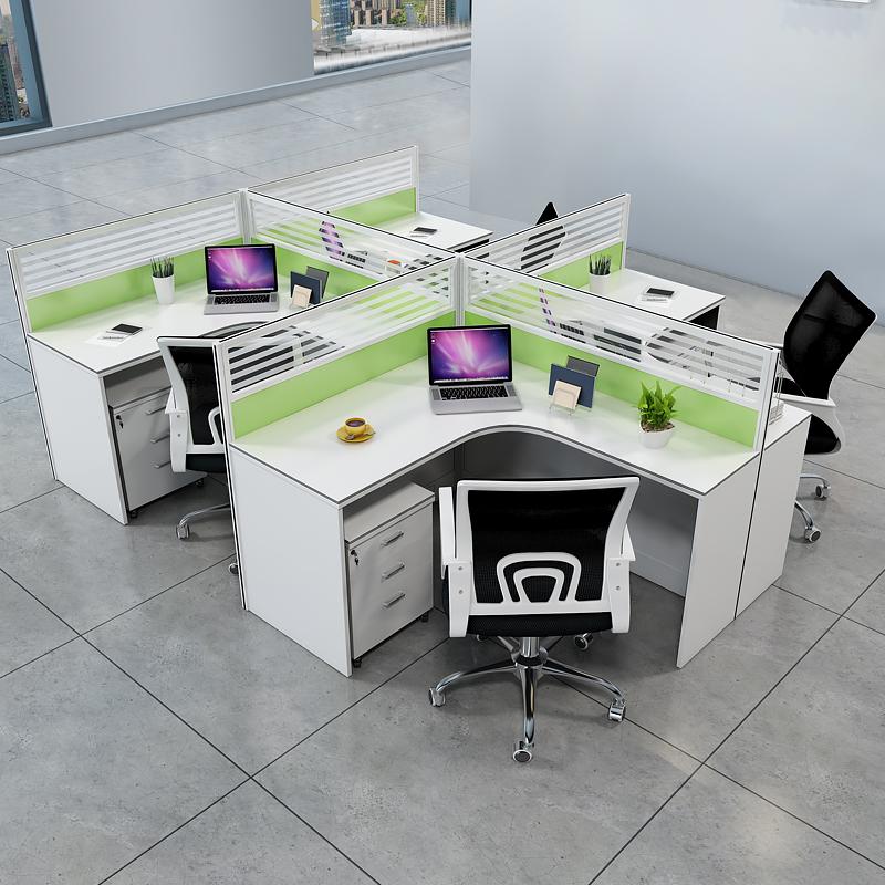 職員辦公桌單位房產公共卡位圍欄組合連體簡約現代卡座屏風員工桌