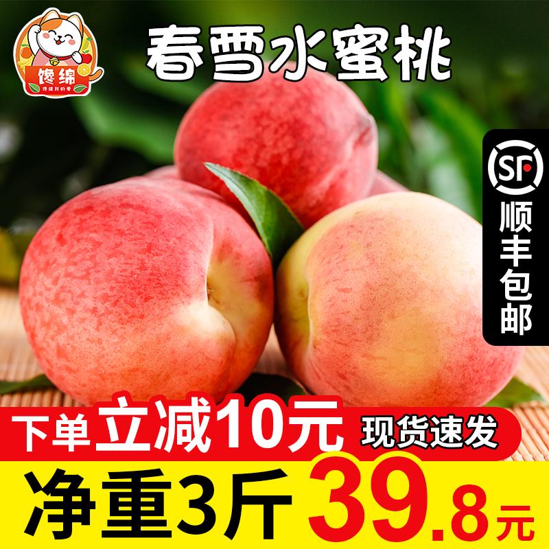 河北春雪水蜜桃3斤桃子新鲜孕妇水果应当季现摘脆甜毛桃整箱包邮5