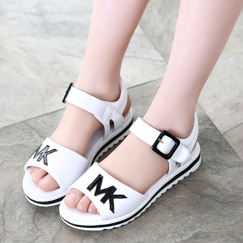 Korean girls sandals 2021 new childrens shoes female students casual shoes middle school childrens princess shoes antiskid beach shoes