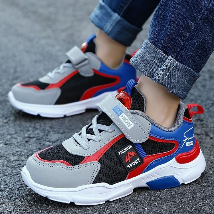 Childrens shoes boys spring autumn casual shoes boys light running shoes simple waterproof sports shoes