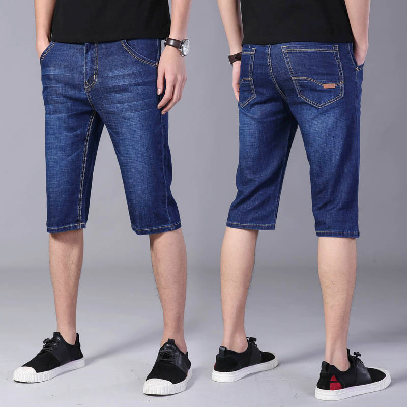 Mens jeans shorts 2021 new Capris mens youth casual pants comfortable breeches mens jeans summer