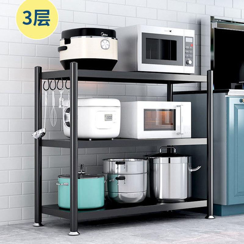 多层微波炉厨房置物收纳架落地架厨房用品收纳多功能储物架子