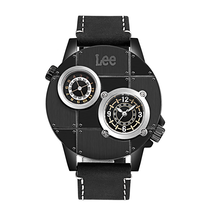 American fashion brand Lee counter authentic fashion city watch double movement Belt Large Dial Mens watch m59