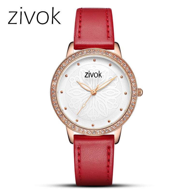 【西珂新品时尚简约镶钻皮带石英女士手表】型号:8018L。Z06