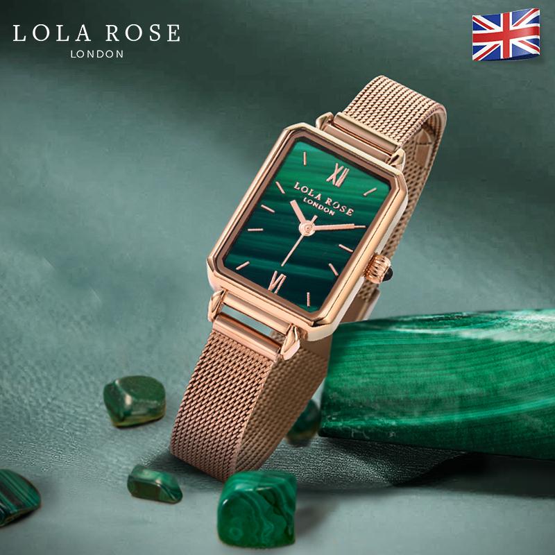 Lola Rose手表女ins风轻奢女表dw手表复古小方盘正品名牌手表抖音