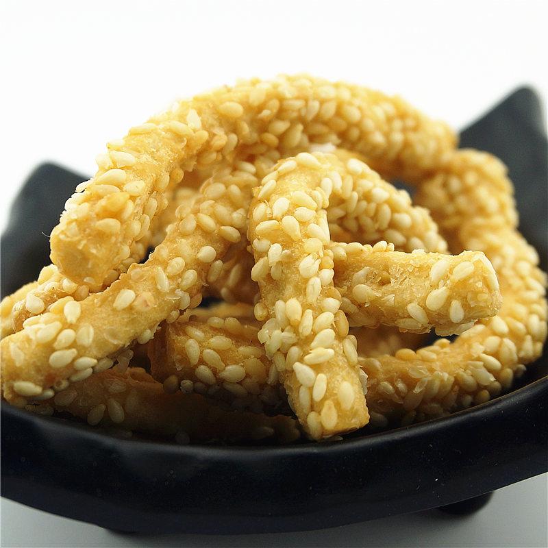 趣卫麻山药芝麻酥条零食面食点心糕点传统小吃原味500g火锅零食