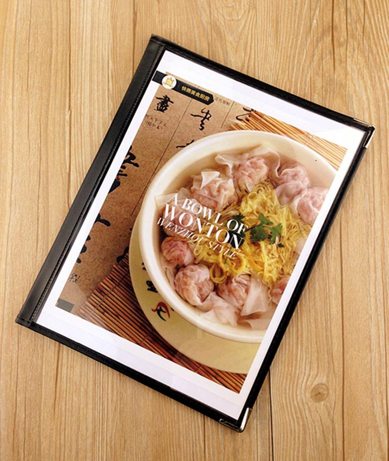 展示酒水菜谱透明点菜本展示本册单西式菜谱欧式菜谱2页4面黑色