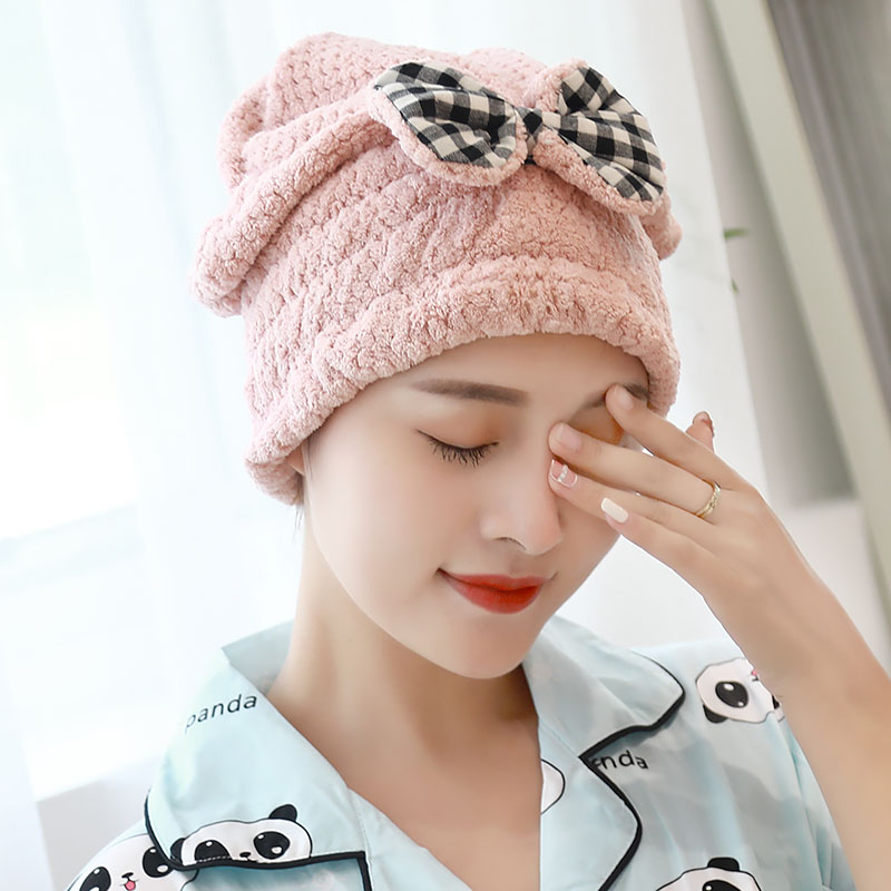 Dry hair hat, womens water absorption, quick dry hair towel, head towel, Korean version, lovely shampoo, bath towel, hat, long hair, dry hair towel