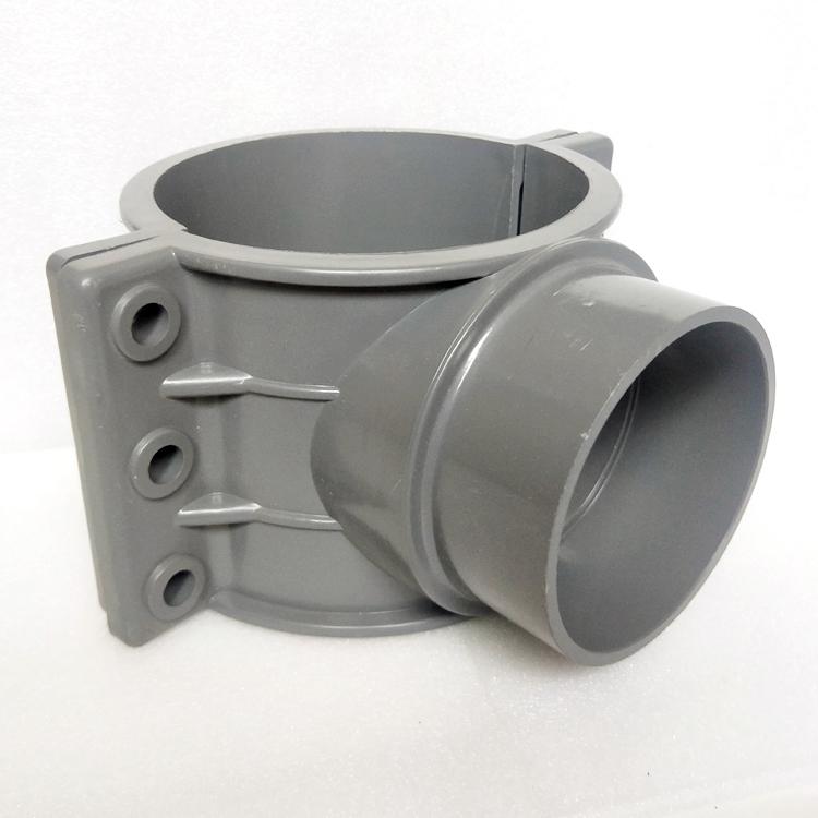 PVC管件增接口三通异径哈夫节鞍形马鞍座快速接头160补漏变径内丝