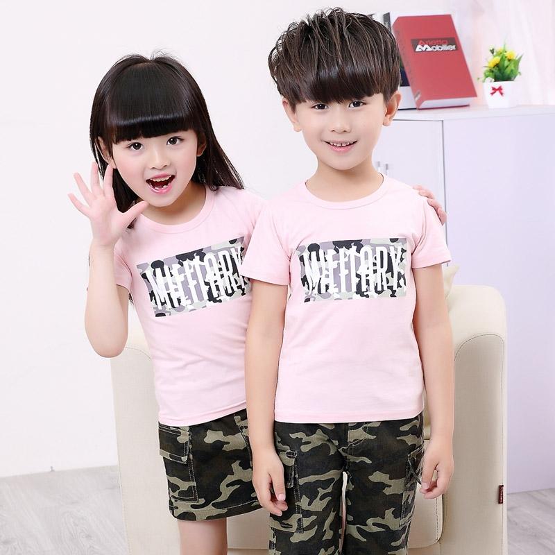 旗舰店10大童装男童女童夏装三4四5五6六7七8-十岁运动服儿童短袖