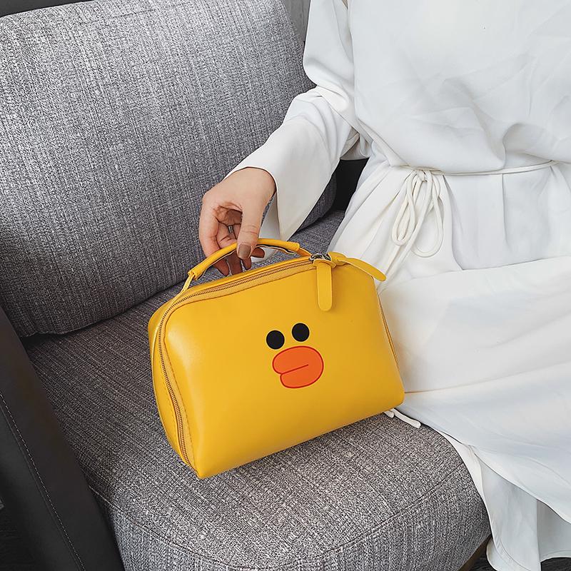 便携化妆包大容量收纳包女简约小号卡通旅行随身洗漱包手提化妆袋包邮