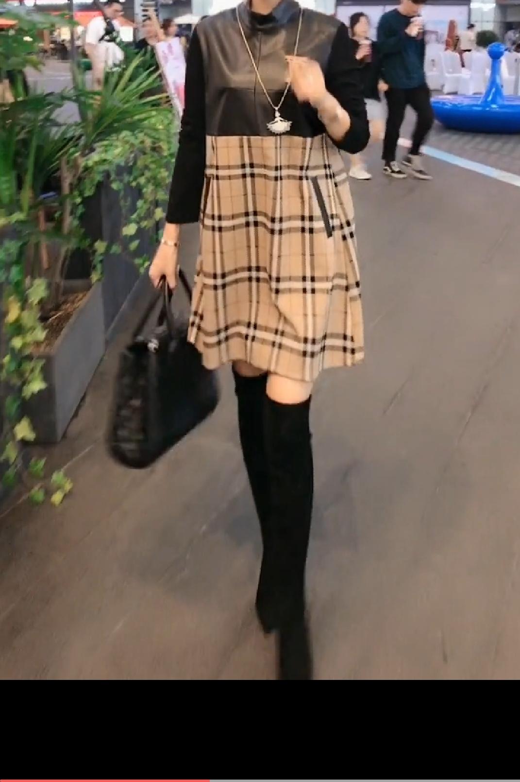 148.00元包邮768912019新款秋季时尚连衣裙